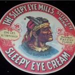 Sleepy Eye Cream Barrel label